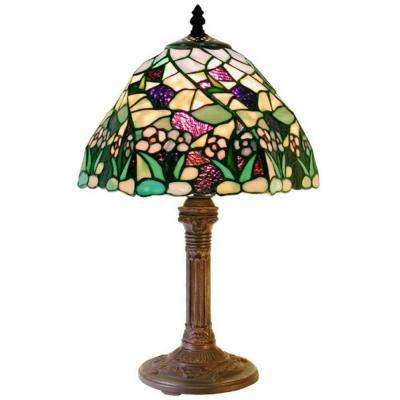 17 in. Lake Multicolored Bronze Table Lamp