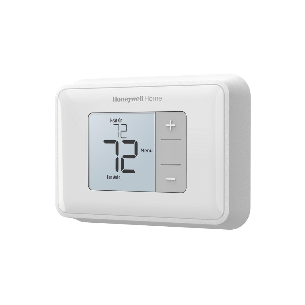 Honeywell Home Horizontal Non Programmable Thermostat With Digital Backlit Display Rth5160 The Home Depot