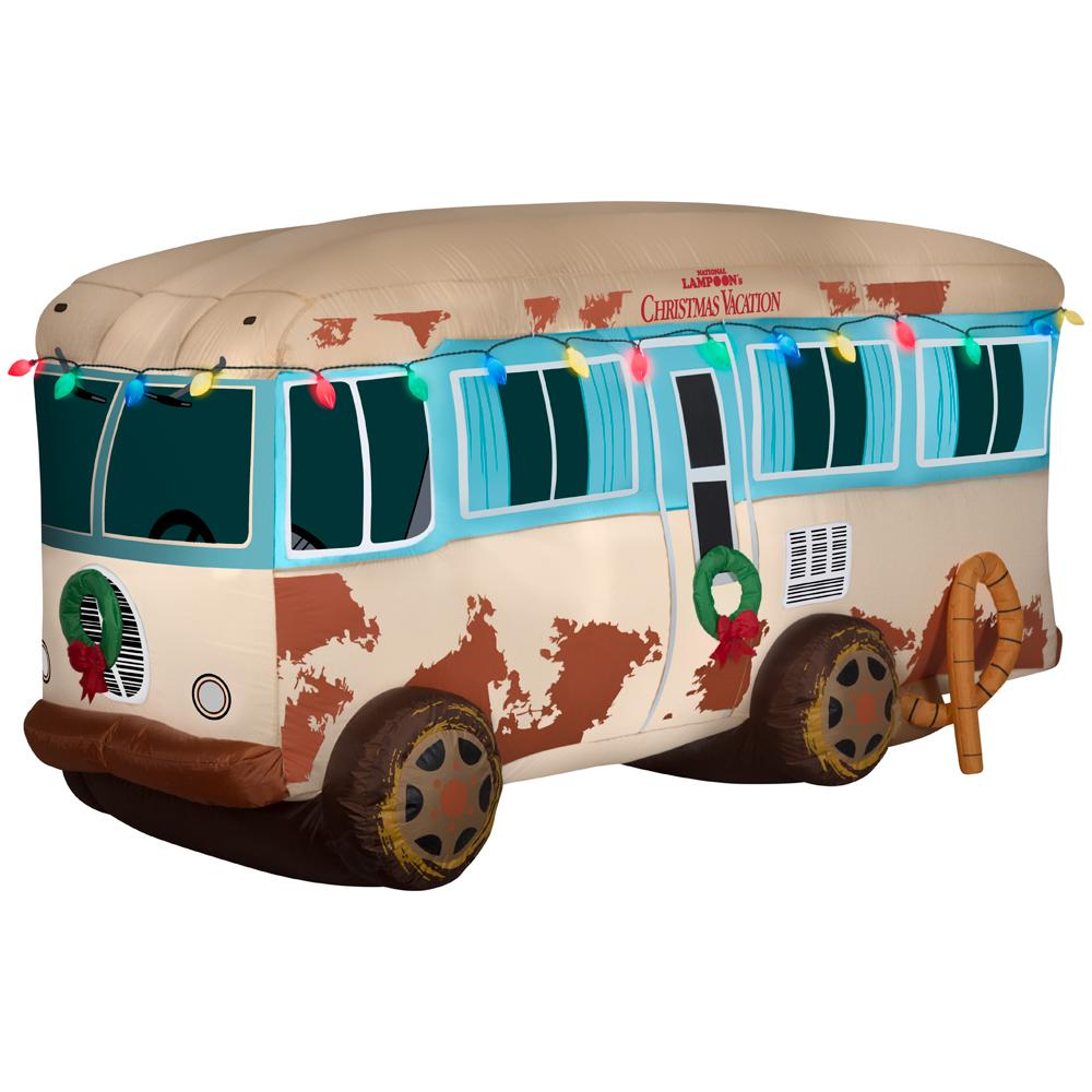Inflatable National Lampoon Christmas Vacation RV for outside Christmas RV-themed decorations