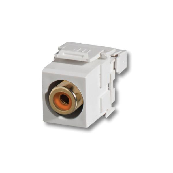 Quickport Snap-In RCA to 110 Module, Orange/White