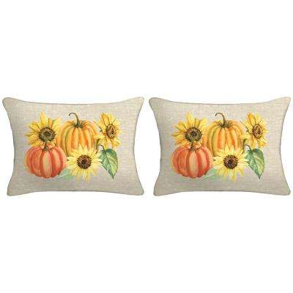 18 in. x 12 in. x 5 in. Harvest Lumbar Toss Pillow (Set of 2)