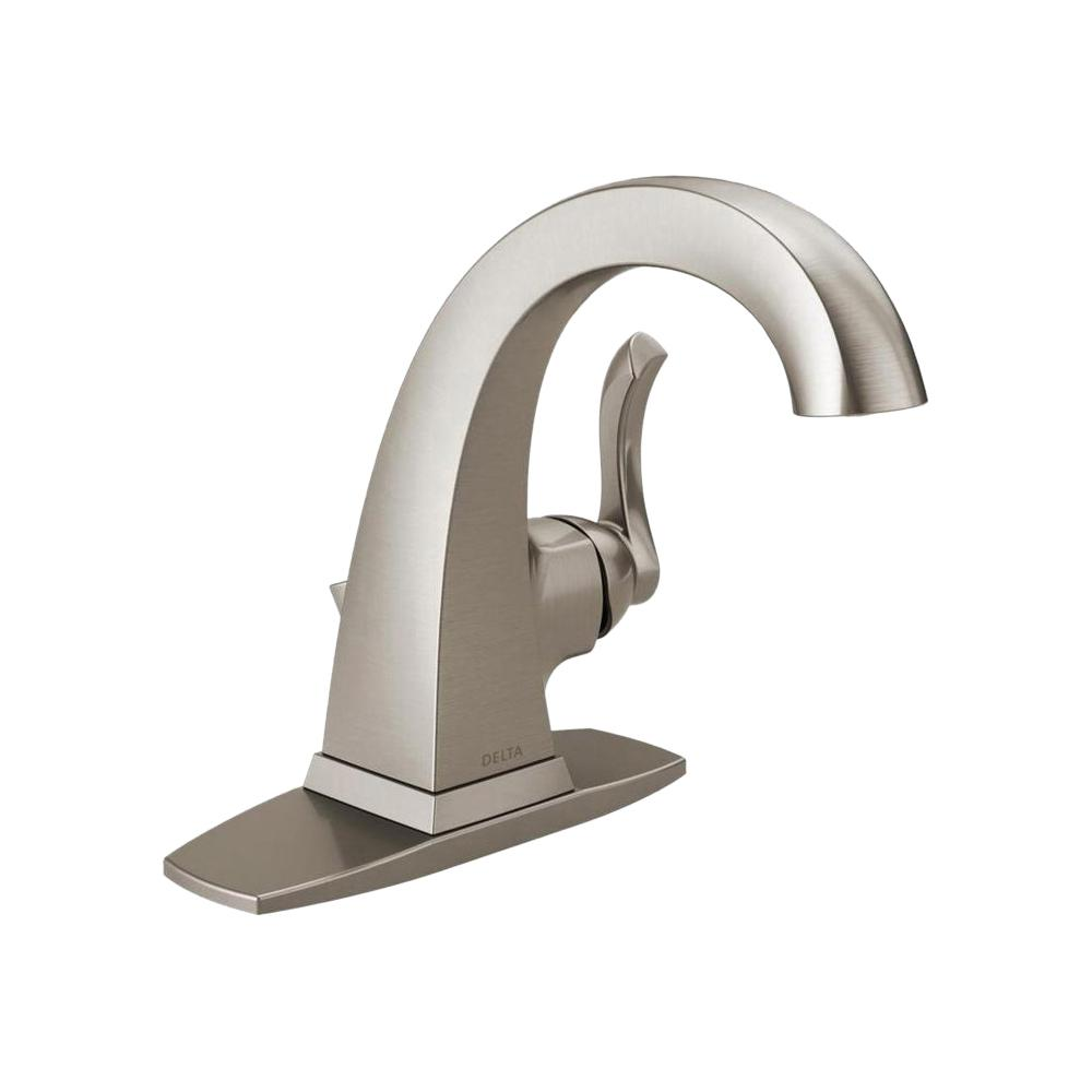 Delta Everly 4 In Centerset Single Handle Bathroom Faucet Spotshield Brushed Nickel