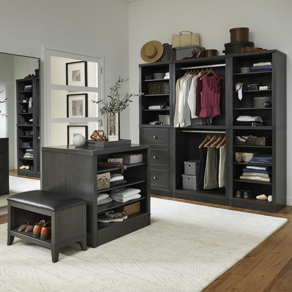 5th Avenue 36 in. Black 5-Piece Closet Storage Units