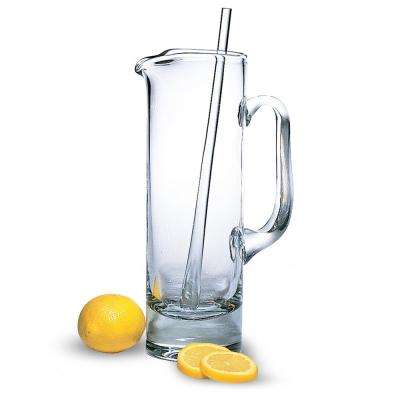 54 oz. 12 in. Tall Manhattan European Mouth Blown Lead Free Crystal Martini Pitcher and Stirrer