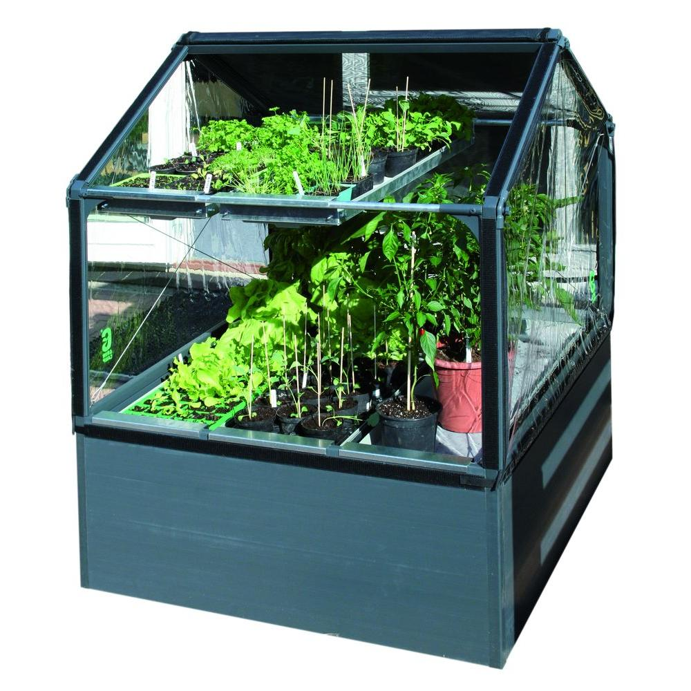 null 34 in. Easy Grow Greenhouse Black Roof Vent Opener