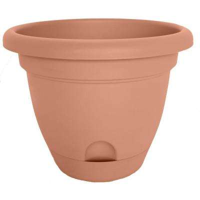 14 x 12.5 Terra Cotta Lucca Plastic Self Watering Planter
