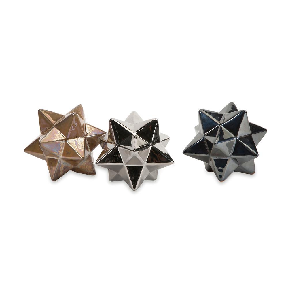 Metallic Stargazer Stars (Set of 3)