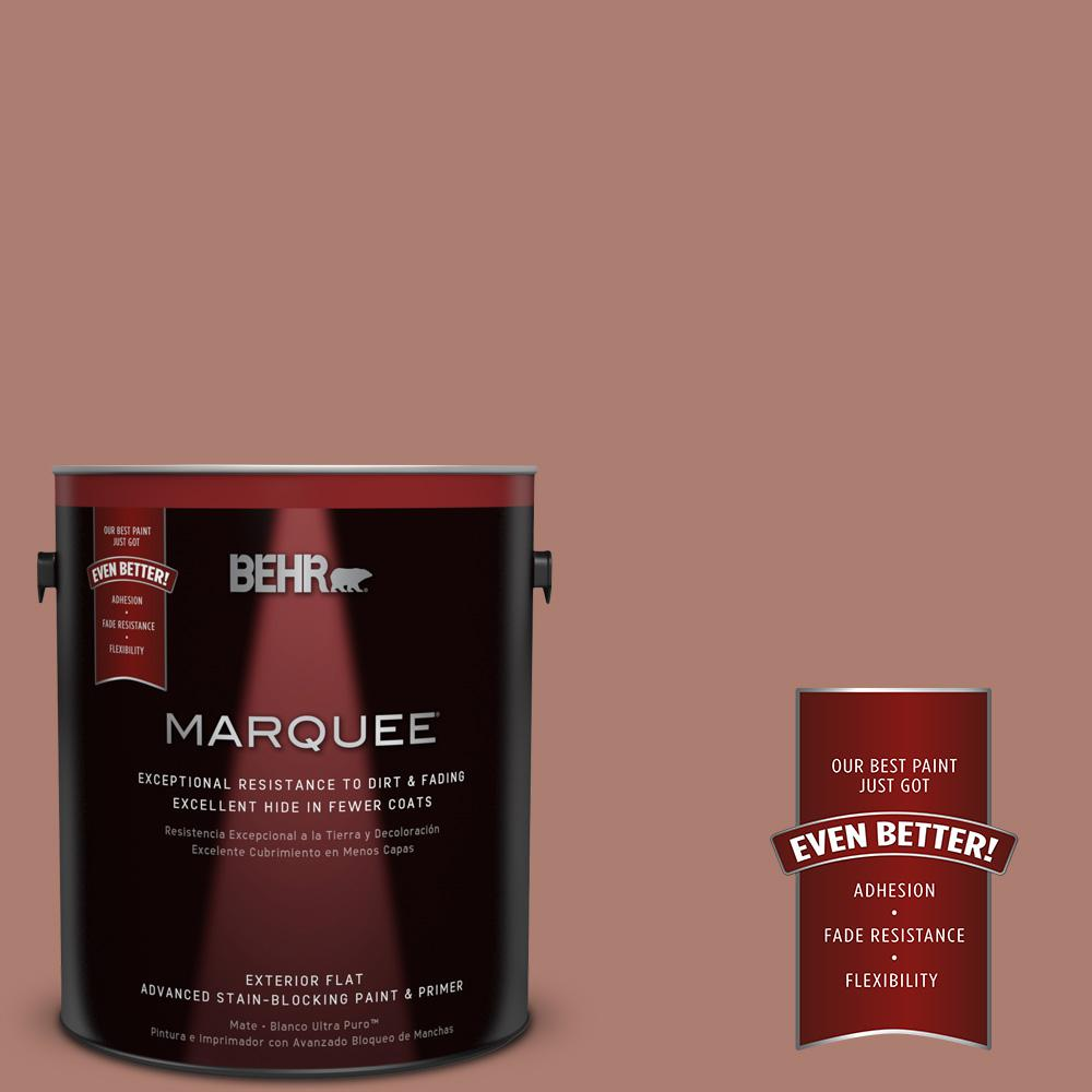 BEHR MARQUEE 1-gal. #PPU2-11 Mars Red Flat Exterior Paint