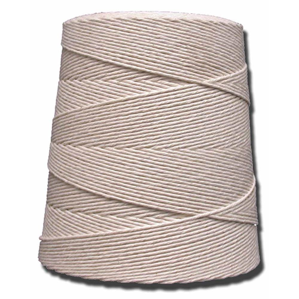 TW Evans 10-Ply 4750 ft. 2.5 lb. Cotton Twine Cone, Whites