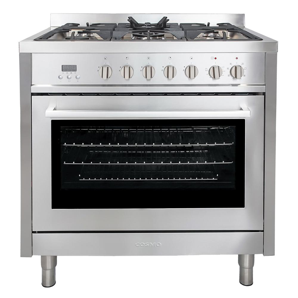 Kitchenaid 36 In 5 1 Cu Ft Dual Fuel Range With