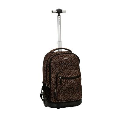 Rockland Sedan 19 in. Rolling Backpack, Leopard