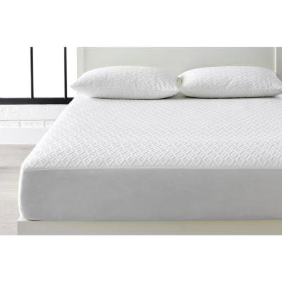 Microban Anti-Microbial White Queen Mattress Protector + Jumbo Pillow Protector (Set of 2)
