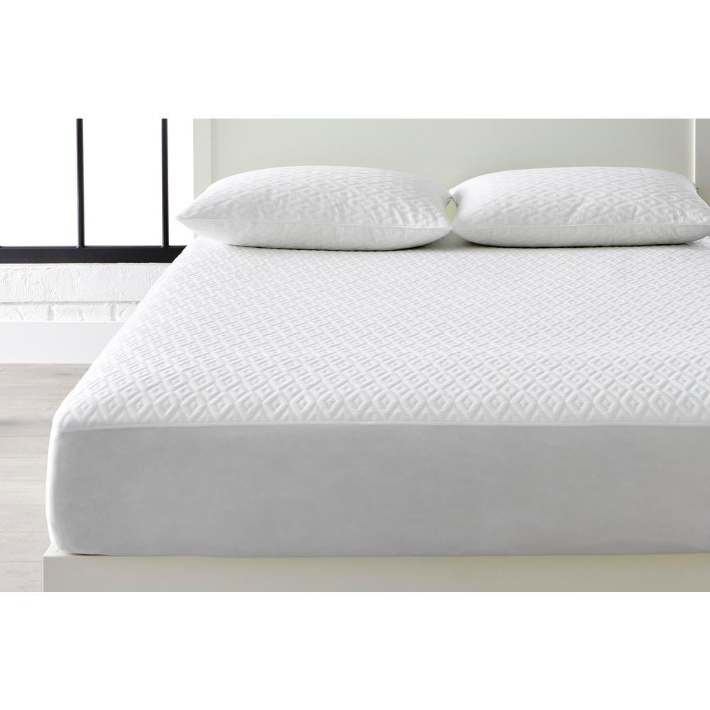 Microban Anti-Microbial White King Mattress Protector + King Pillow Protector (Set of 2)