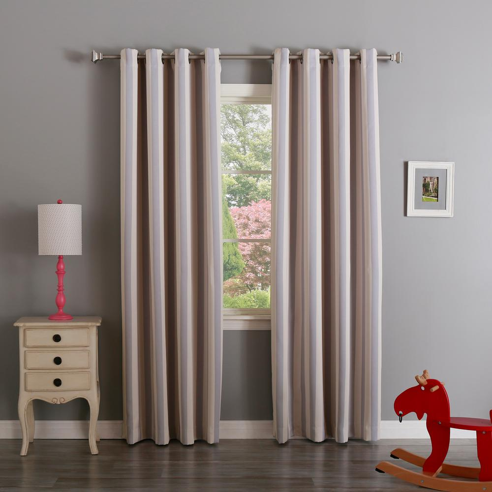 Best Home Fashion 63 In L Room Darkening Vertical Stripe Curtain Panel Lilac 2 Pack
