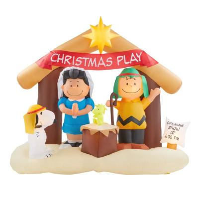6 ft. Inflatable Peanuts Nativity Scene