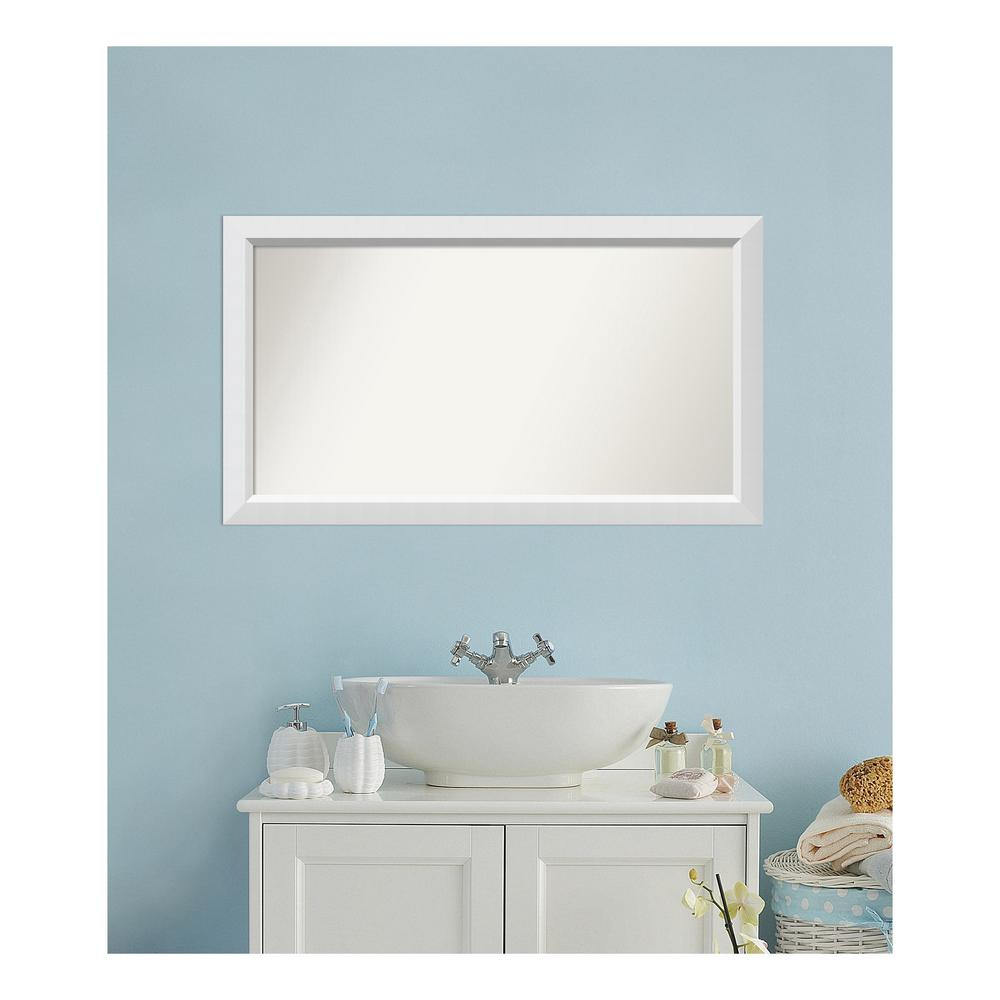 Amanti Art Choose Your Custom Size 24 in. x 42 in. Blanco White Wood Framed Mirror was $321.67 now $155.04 (52.0% off)