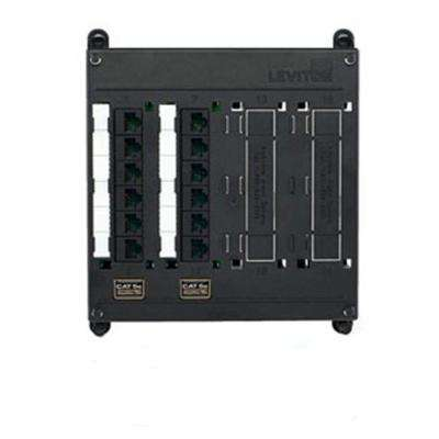 Structured Media Twist and Mount Patch Panel with 12 Cat 5e Ports, Black