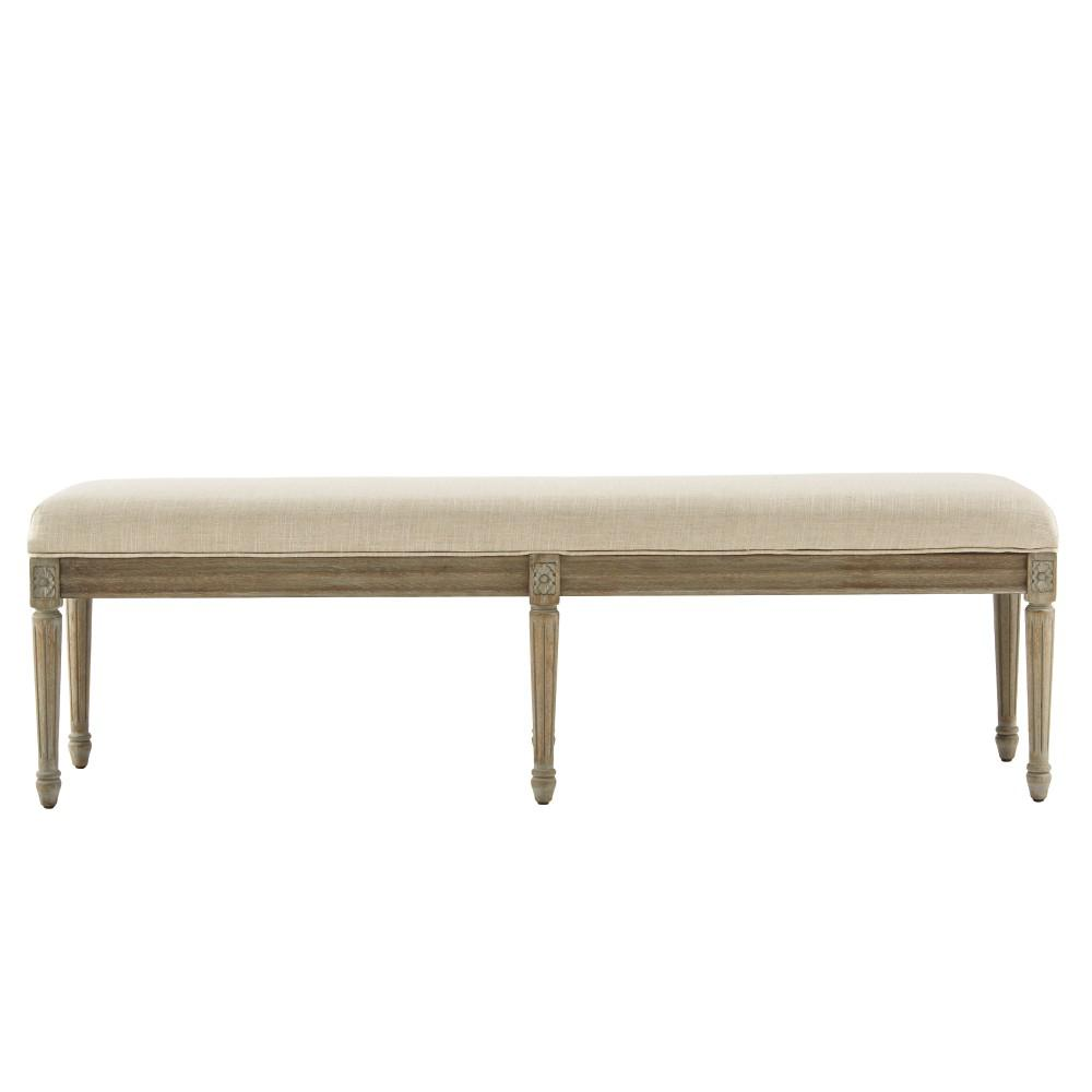 Home Decorators Collection Jacques Antique Brown Bench 9963600350 The Home Depot
