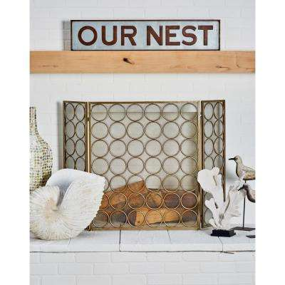 OUR NEST Iron Decorative Sign