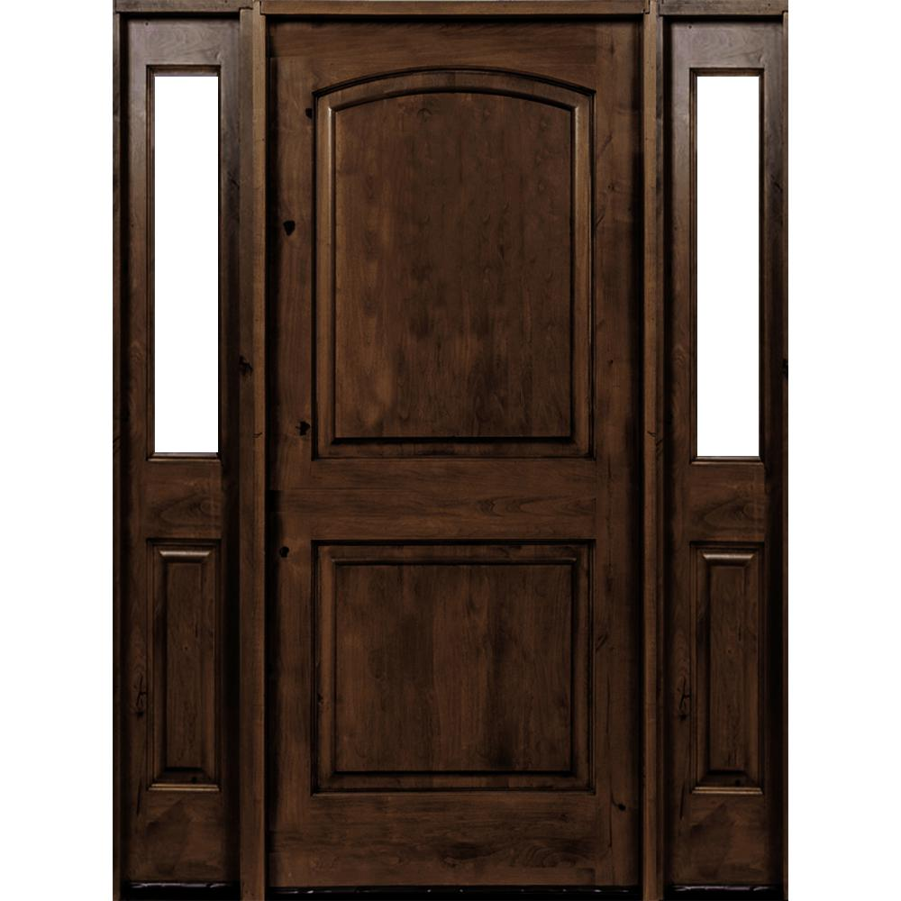 Krosswood Doors 30 In X 80 In Rustic Knotty Alder 2: Krosswood Doors 64 In. X 80 In. Rustic Knotty Alder Arch