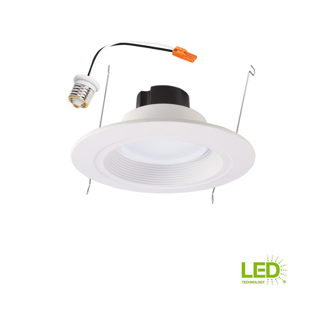 Halo RL 5 in. and 6 in. White Integrated LED Recessed Retrofit ...