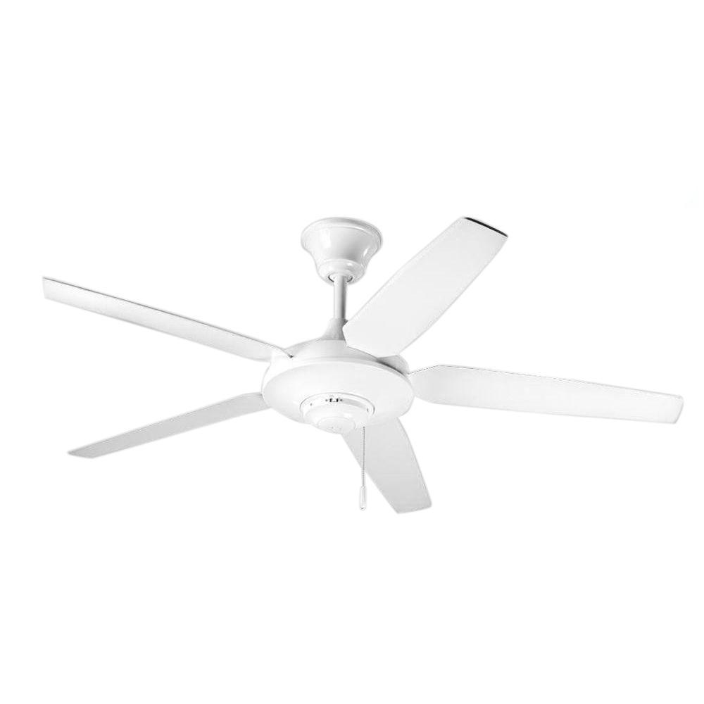 Progress Lighting Airpro Signature 54 In Indoor White Modern Ceiling Fan