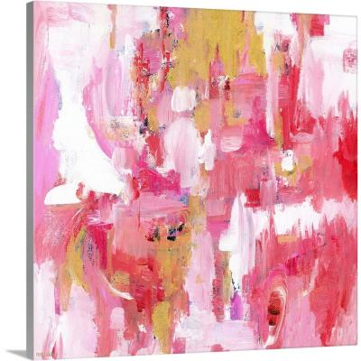 """Abstract Dream Pink Gold"" by Pamela J. Wingard Canvas Wall Art"
