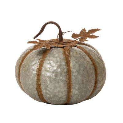 9.5 in. H Large Galvanized Pumpkin