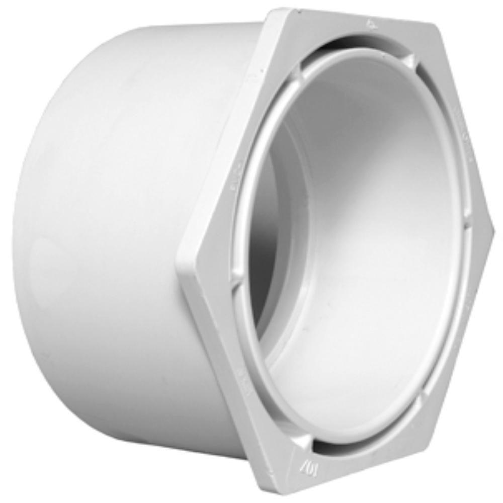 Charlotte Pipe 10 in. x 6 in. DWV PVC SPG x Hub Flush Bushing