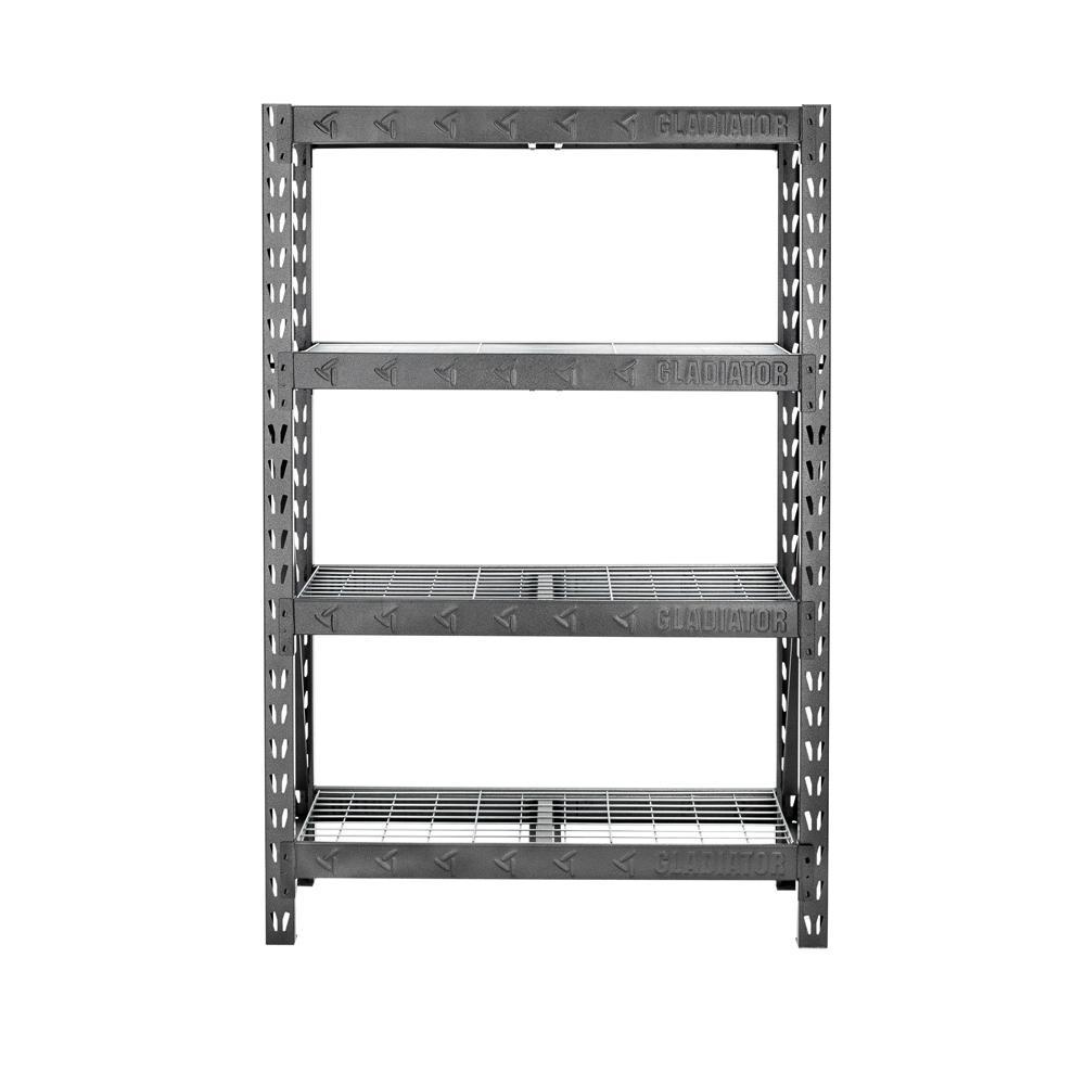 D 4 Shelf Welded Steel Garage Shelving Unit