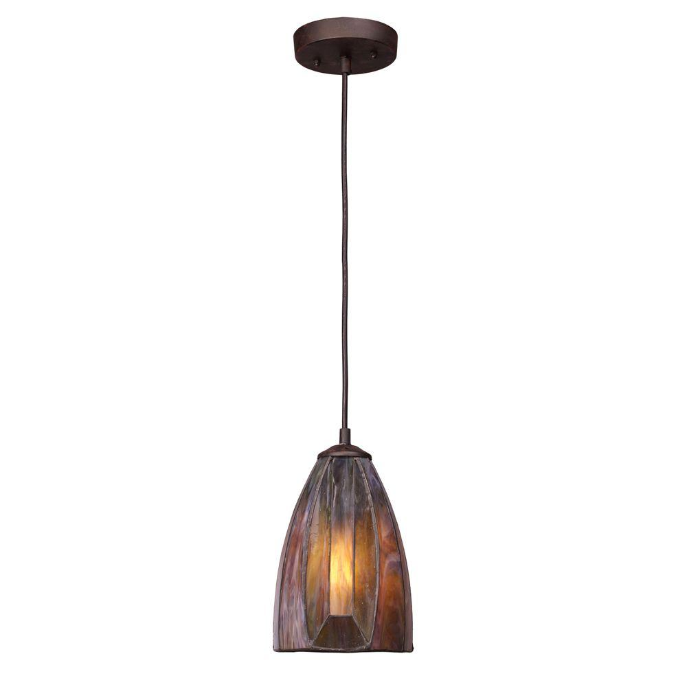 Dimensions 1-Light Burnished Copper Ceiling Mount Pendant