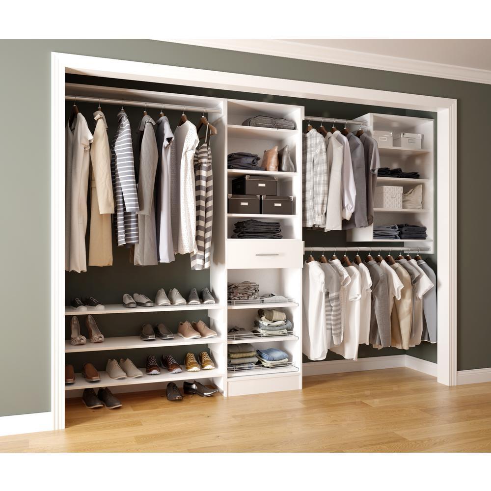 Home Decorators Reach Calabria Bianco White Melamine Shelves Closet