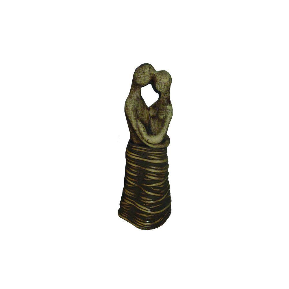 9 in. H Ceramic Decorative Statues in Brown