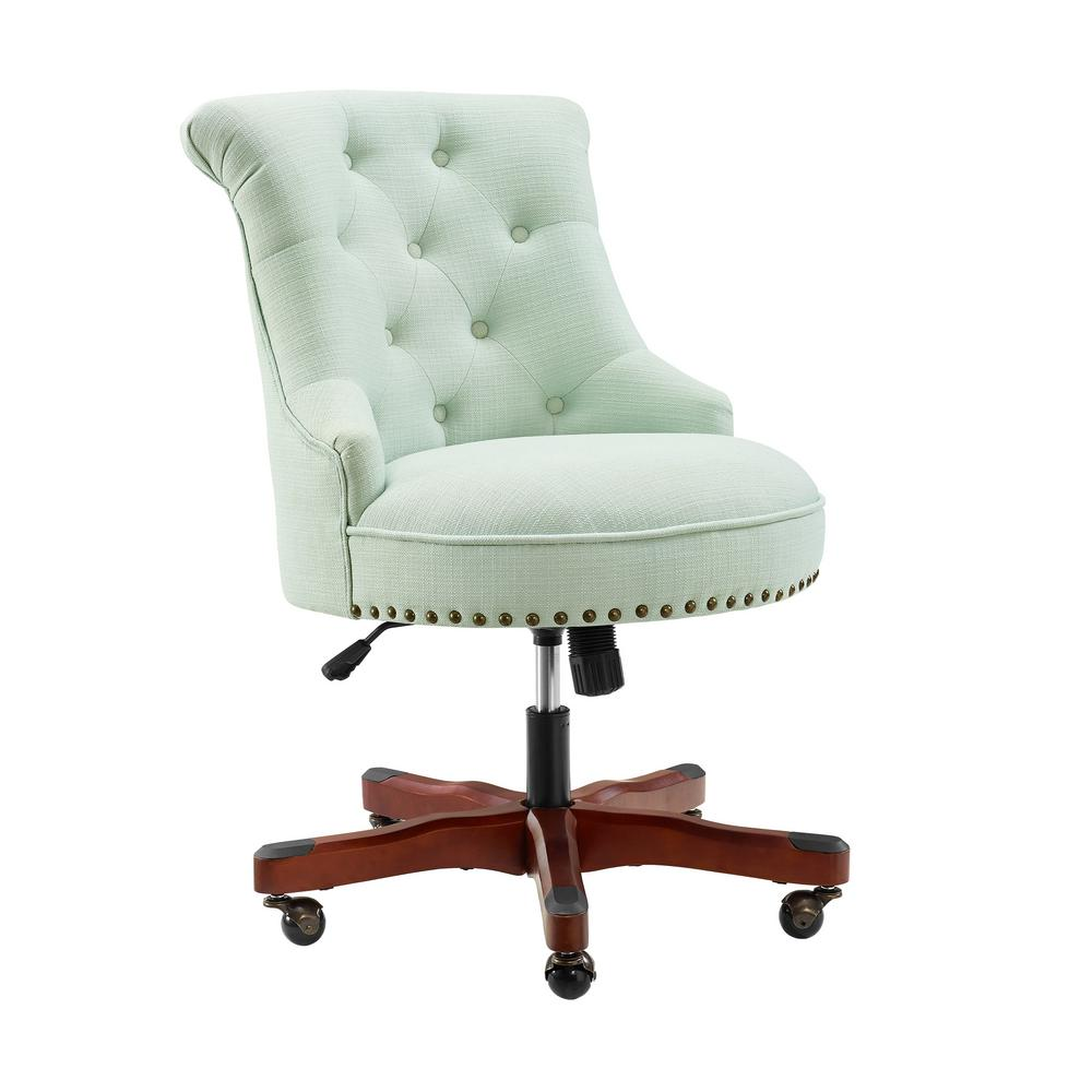 Linon Home Decor Sinclair Mint Green Office Chair-THD01959