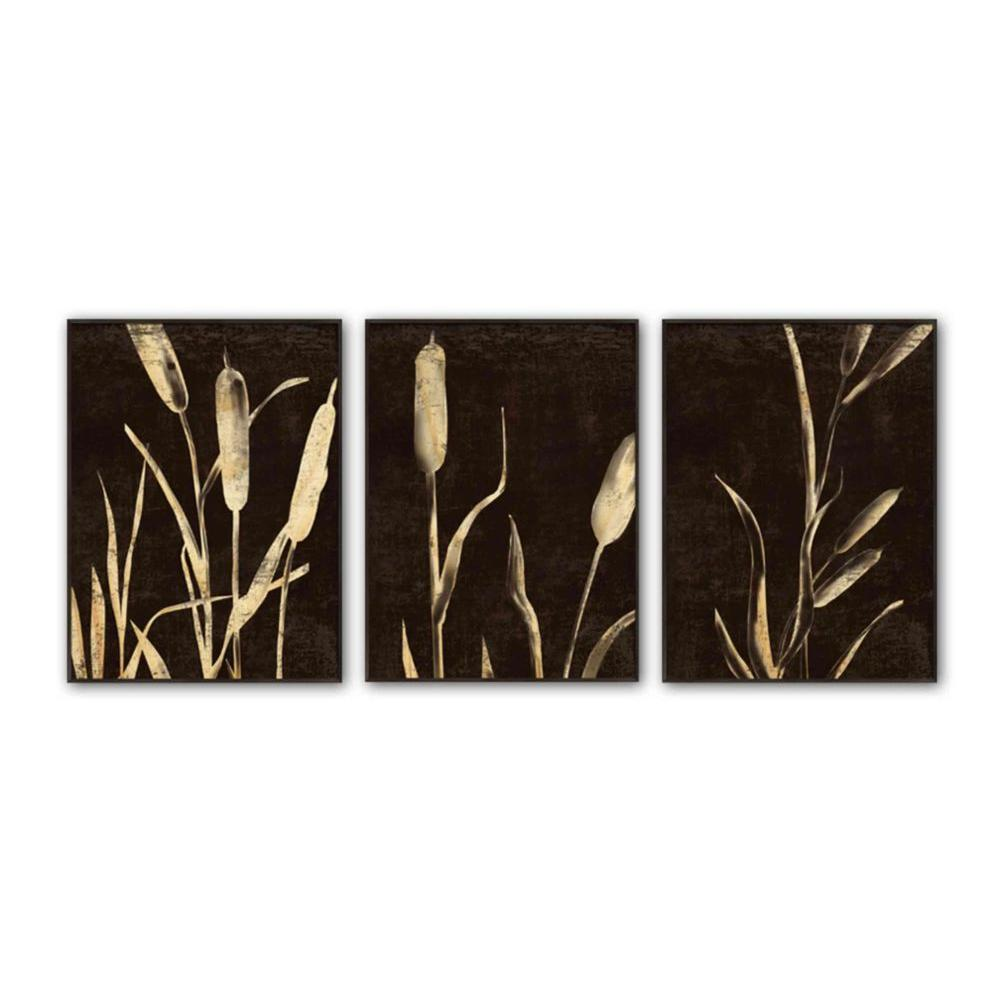 "PTM Images 21.5 in. x 27.5 in. ""Garden Inverse"" Framed Wall Art (3-Piece)"