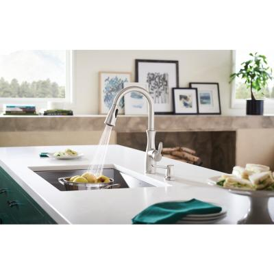 Nellis Single-Handle Pull-Down Sprayer Kitchen Faucet with Reflex and Power Clean in Spot Resist Stainless