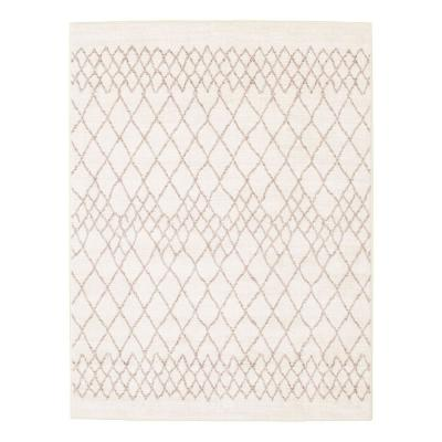 Jade Ivory 6 ft. 7 in. x 9 ft. 6 in. Border Area Rug