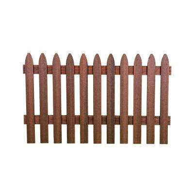 3-1/2 ft. H x 6 ft. W Heartwood Gothic Composite Fence Picket Panel