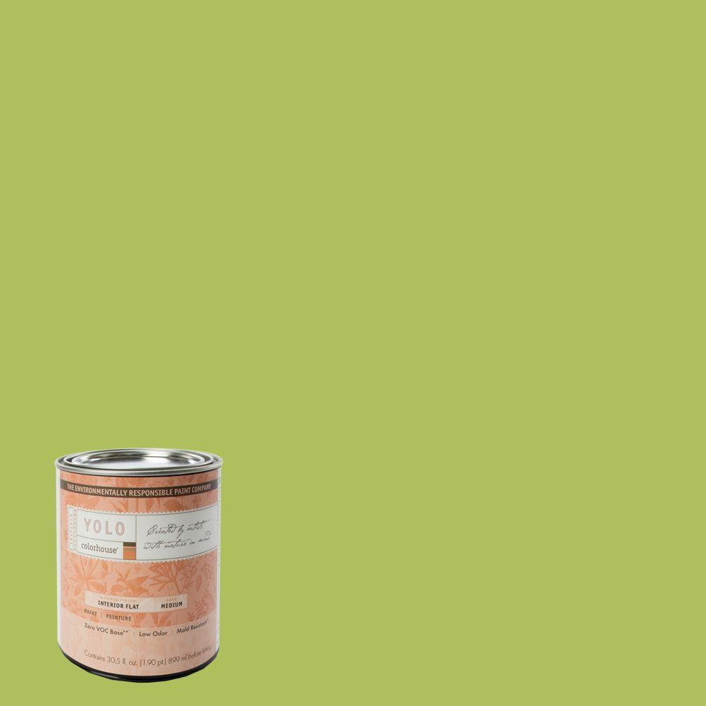 YOLO Colorhouse 1-Qt. Thrive .03 Flat Interior Paint-DISCONTINUED