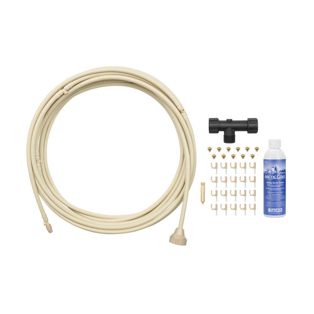 Home Garden Pre Assembled Cool Misting System Kit DIY Hose Spigot Attachment 24/'
