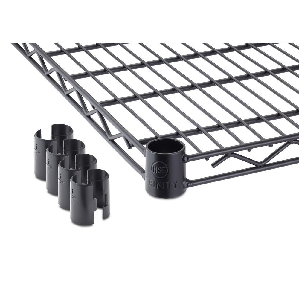 48 in. W x 18 in. D Individual Black Steel Wire Shelf