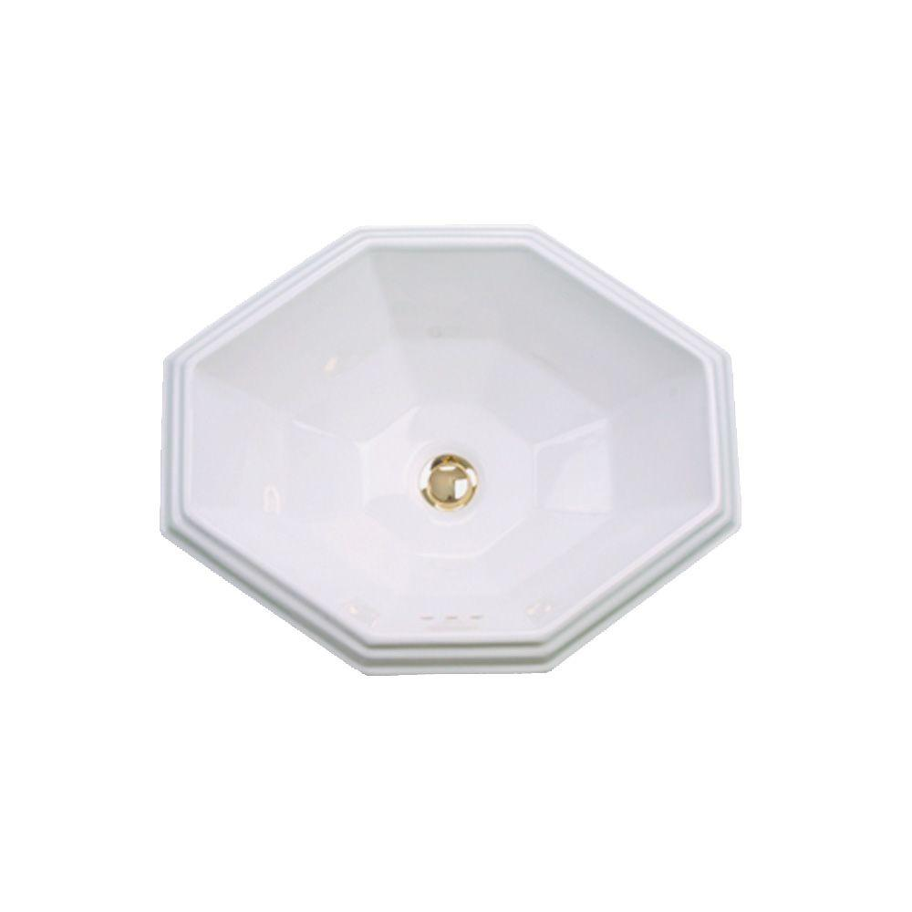 St. Thomas Creations Mallorca Vessel Drop in Sink in White-DISCONTINUED