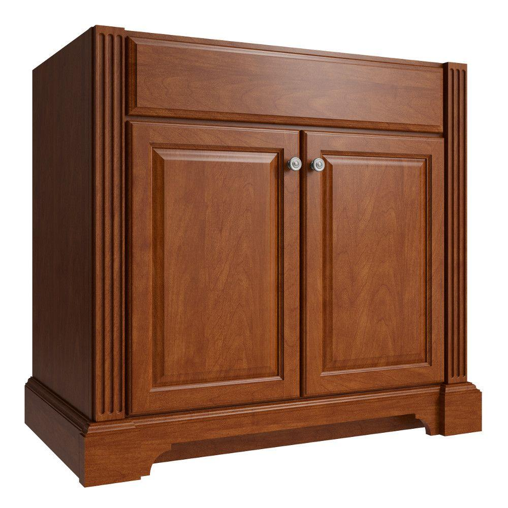 Cardell Exeter 36 in. W x 21 in. D x 34.5 in. H Vanity Cabinet Only in Clove