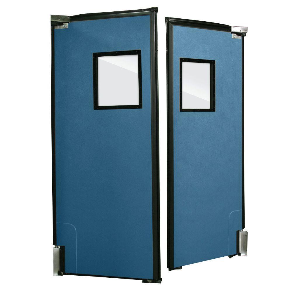 Aleco ImpacDor RD-175 1-3/4 in. x 60 in. x 96 in. Royal Blue Impact Door