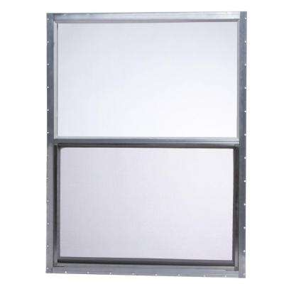 30.25 in. x 41.875 in. Mobile Home Single Hung Aluminum Window - Gray