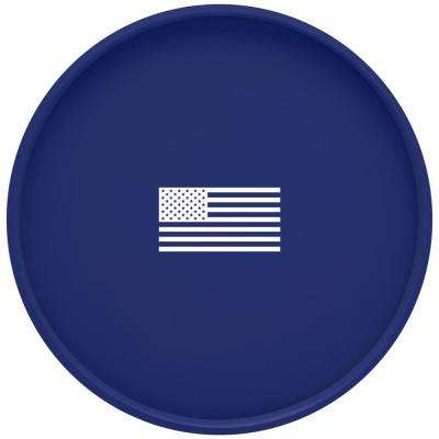 Kasualware U.S.A. 14 in. Round Serving Tray in Blue