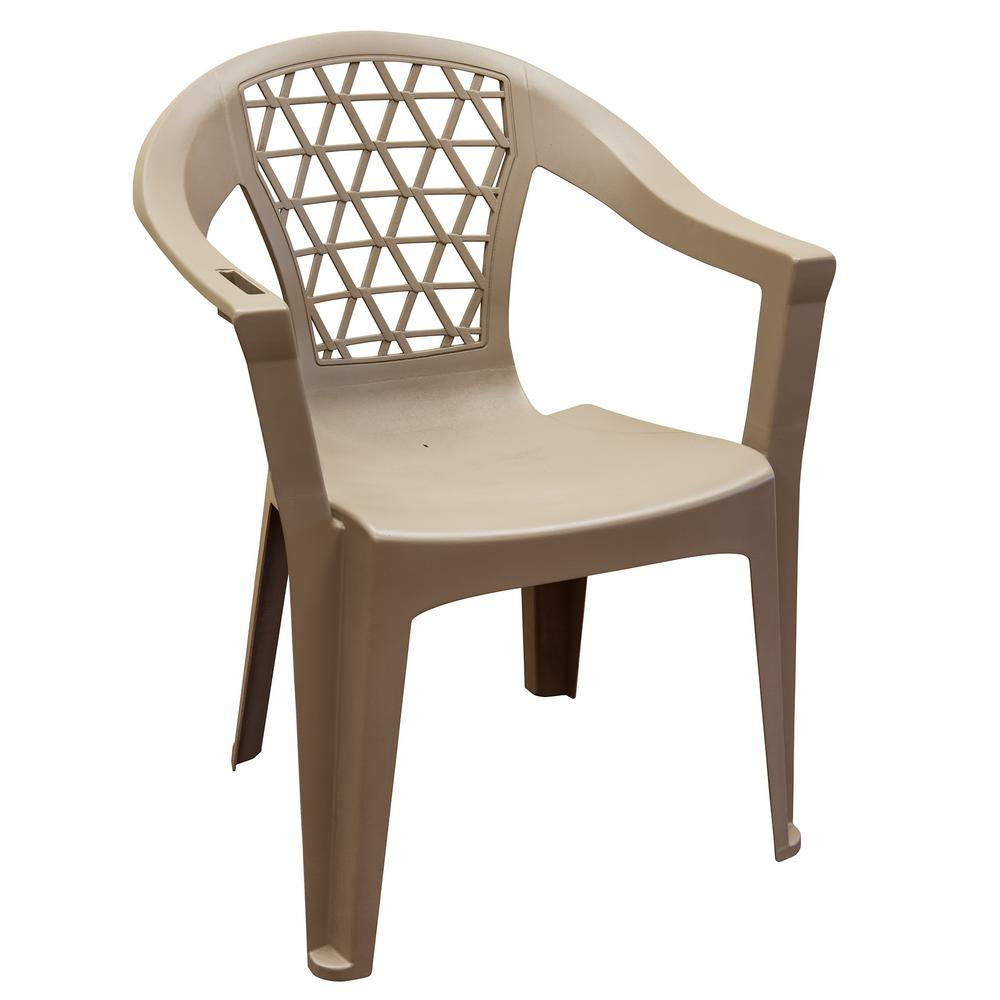 Penza Mushroom Stack Resin Plastic Outdoor Dining Chair 8220 96 4330 The Home Depot