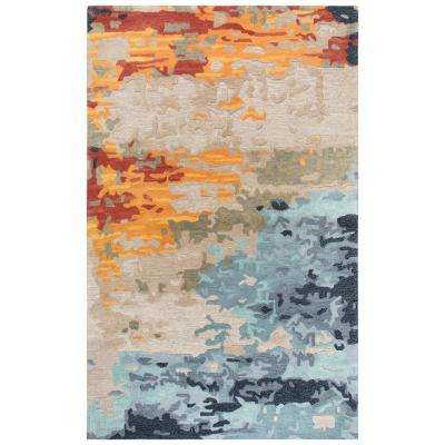 Lapis Multi-Colored 10 ft. x 13 ft. Abstract Area Rug