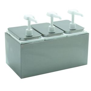 Carlisle Standard Topping Dispenser with 3 Standard Pumps and Jars by Carlisle