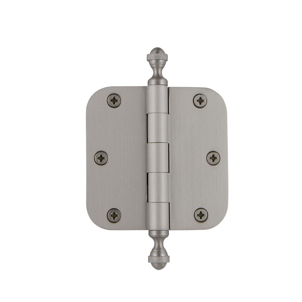3.5 in. Acorn Tip Residential Hinge with 5/8 in. Radius Corners